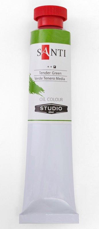 Краска маслянная Santi Studio 60мл Киноварь зеленая средняя №323