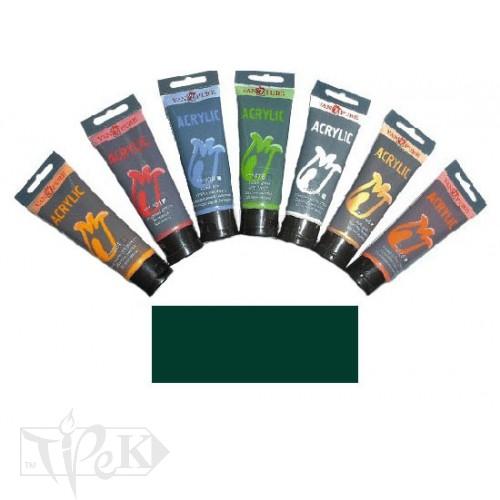 Купить Акриловая краска 75 мл 064 зеленая темная Van Pure
