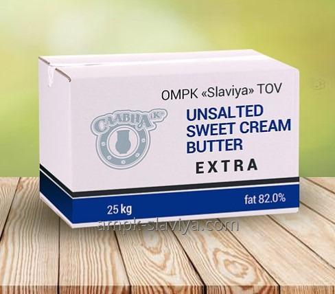 Sweet cream butter Ekstra monolith of 82%