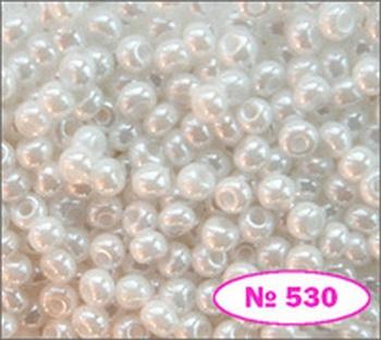 Купить Бисер 10/0 № 46102 / 530 (перламутровый) (код: 10-530-46102)