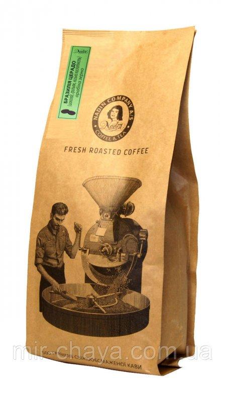 Купить Кофе Бразилия Церадо в зернах 0,5кг.