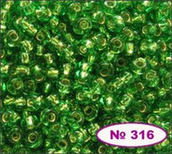 Бисер 10/0 № 57100 / 477 (блестящий с квадратной серединкой) (код: 10-477-57100)