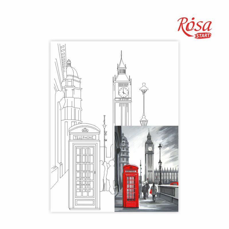 Холст на картоне с контуром Лондон 30х40 см, GPA284202
