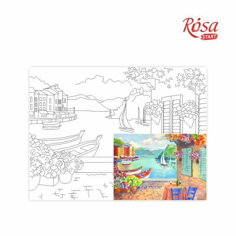 Холст на картоне с контуром Морские пейзажи №3 30х40 см, GPA283903