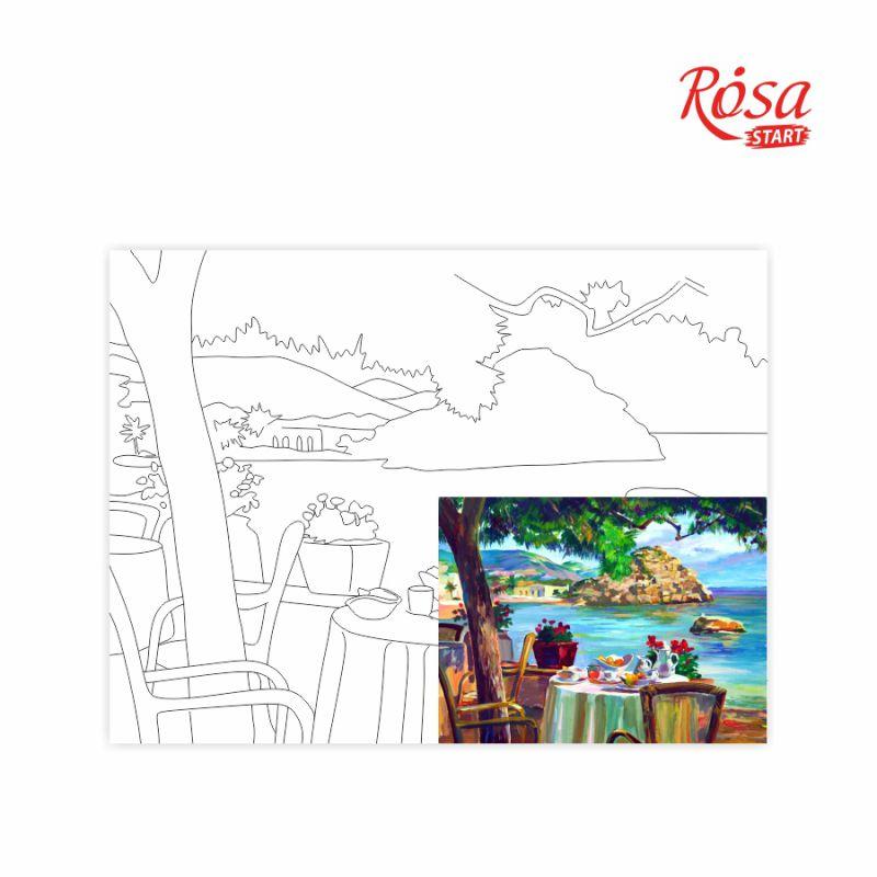 Холст на картоне с контуром Морские пейзажи №4 30х40 см, GPA283904