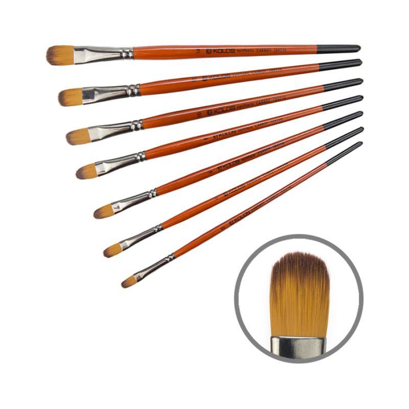 Синтетика овальная, Carrot 1097FR, № 8, к.р. кисть KOLOS 421097FR08
