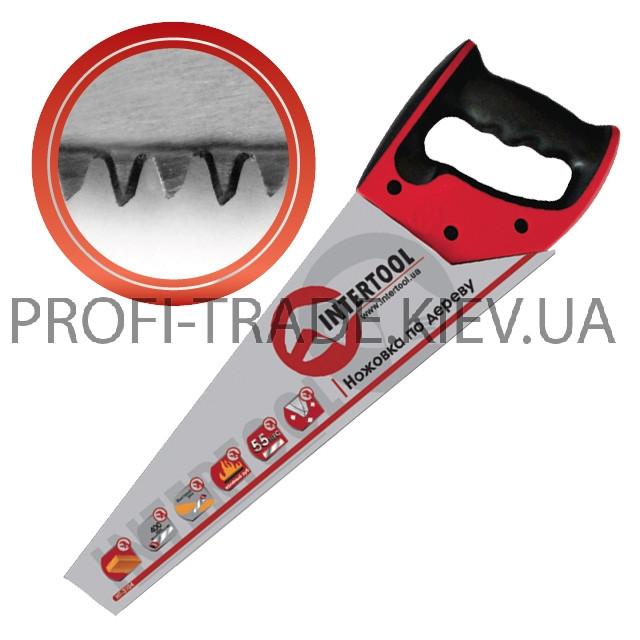 Ножовка по дереву 400 мм с калёным зубом, 3-ст. заточка 7 зуб. * 1 HT-3104