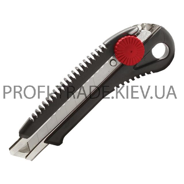 Купить Нож с металлической направляющей под лезвие 18мм с винтовым фиксатором HT-0502
