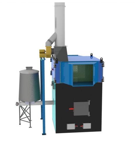 Теплогенераторы горячего воздуха на твердом топливе марки ПОВ ИНКА для воздушного отопления мощностью от 100 до 5000 кВт.