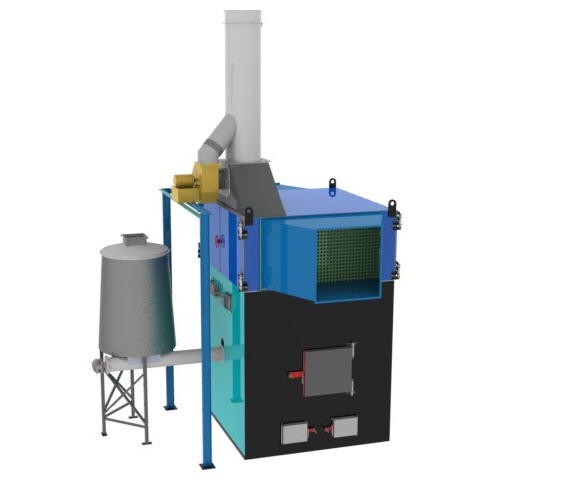 Теплогенератор горячего воздуха ПОВ ИНКА  на твердом топливе марки  для воздушного отопления мощностью от 100 до 5000 кВт.