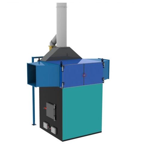 Теплогенераторы  горячего воздуха ПОВ ИНКА  на твердом топливе марки  для воздушного отопления мощностью от 100 до 5000 кВт