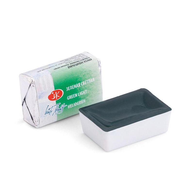 Краска акварельная, Зеленая светлая, 2,5мл, Белые Ночи 50511717