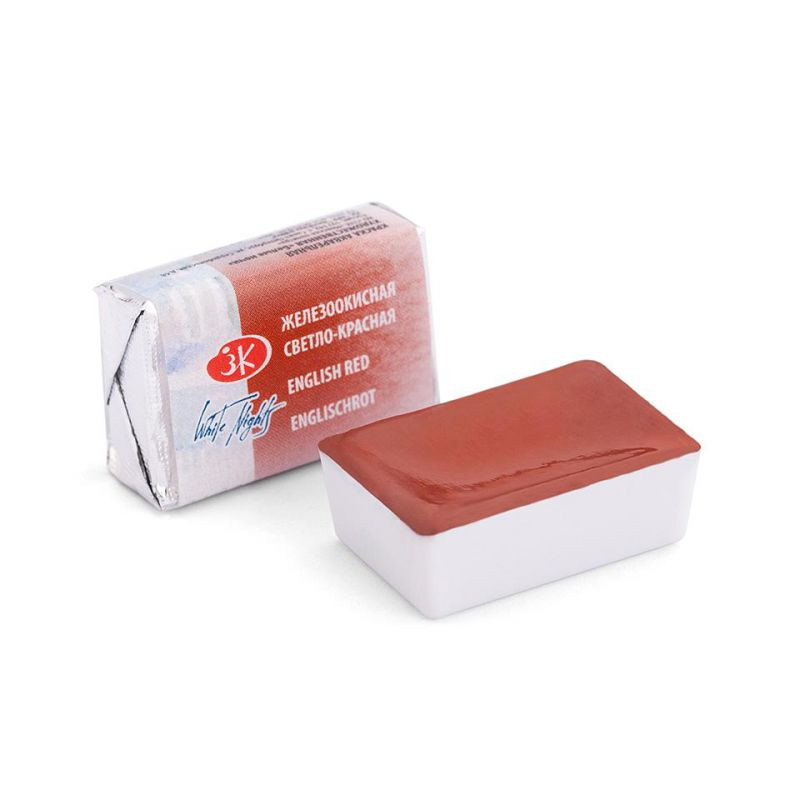 Краска акварельная, Железоокисная светло-красная, 2,5мл, Белые Ночи 50511321