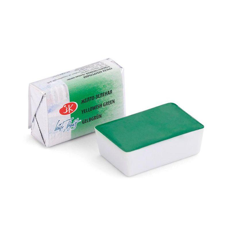 Краска акварельная, Желто-зеленая, 2,5мл, Белые Ночи 50511718
