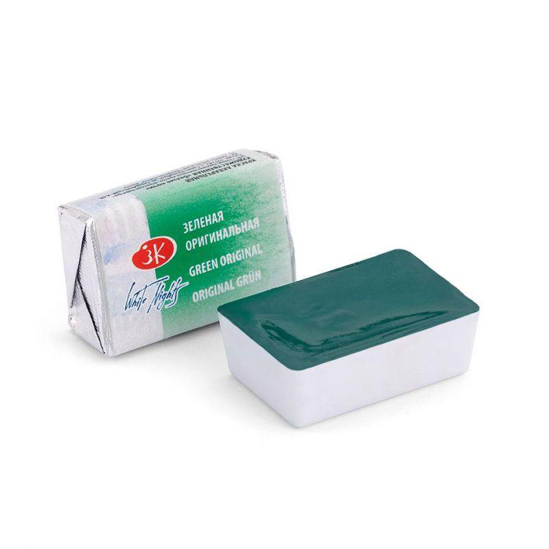 Краска акварельная, Зеленая оригинальная, 2,5мл, Белые Ночи 50511719