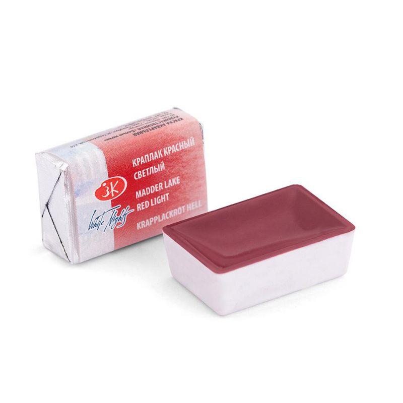 Краска акварельная, Краплак красный светлый, 2,5мл, Белые Ночи 50511313