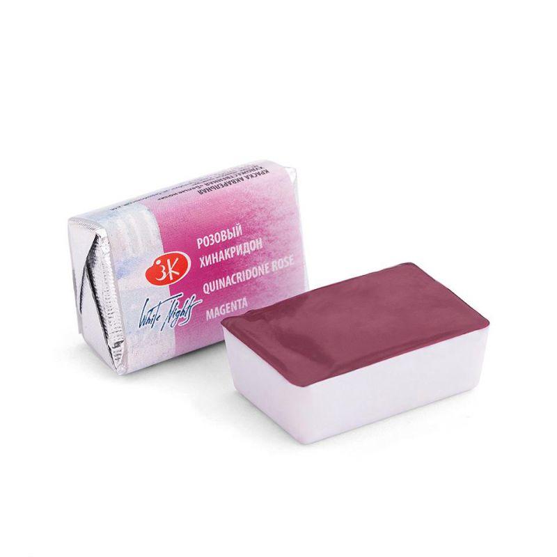 Краска акварельная, Розовый хинакридон, 2,5мл, Белые Ночи 50511324