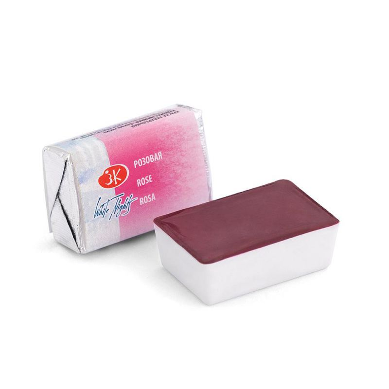 Краска акварельная, Розовая, 2,5мл, Белые Ночи 50511322