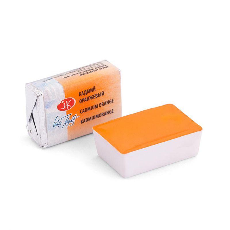 Краска акварельная, Кадмий оранжевый, 2,5мл, Белые Ночи 50511304