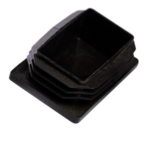 Buy Cap for a profile pipe of 80х120 mm flat black