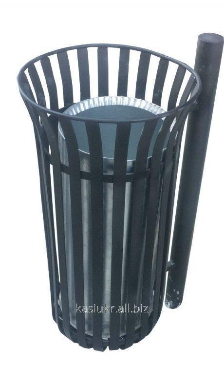 Уличная урна для мусора металлическая №4