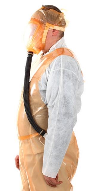 Пневмомаска для защиты от радиоактивных частиц
