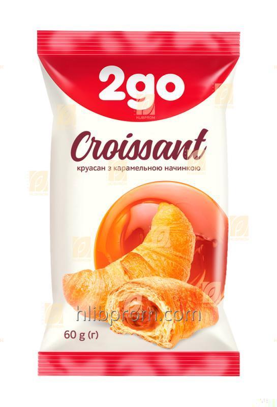 Croissant 2go caramelo relleno con 0,06 kg