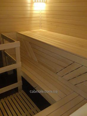 Липовый брус, лежак для бани, 80 х 24 мм, 1сорт