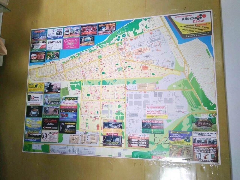 Buy Card Nova Kakhovki, city scheme