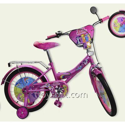 Велосипед 2-х колес 14'' 181420, 1шт, со звонком,зеркалом,руч.тормоз
