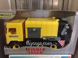 Авто Middle truck мусоровоз, желтый, в коробке 39492