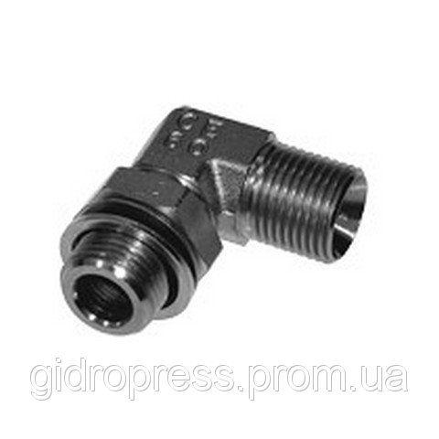 Купить Угловое резьбовое соединение 90° с контргайкой и уплотнительным кольцом XWEE 1 R 1 ED A3C