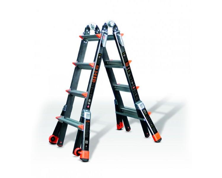 Купить Телескопическая лестница из стекловолокна SVELT DARK 8+8 ступеней