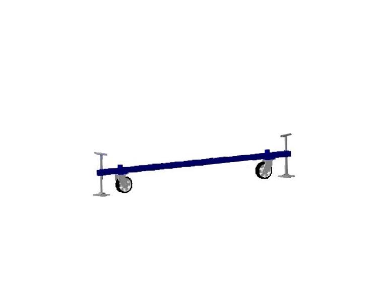 cumpără Baza cu roţi de rulare schele VIRASTAR Optima (1,2 x 2.0 m)