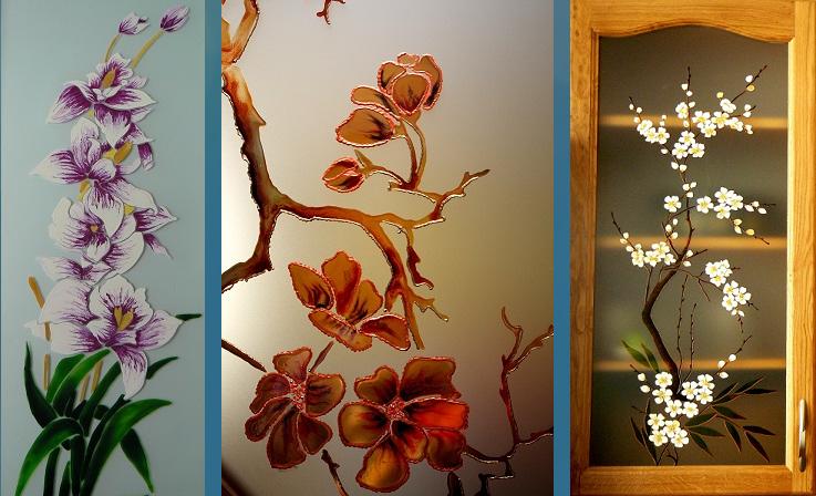 рисунки на стекле: