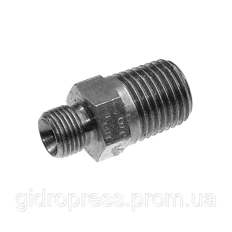 "Buy Straight pipe connection with external conical and inch threads BSP/NPT G 1/2 ""BSP/1/2"
