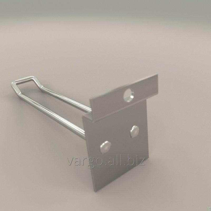 Крючок на эконом панель хром 150 мм двухполосный
