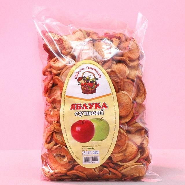 Купить Яблоки сушеные фасованные по 300 г.
