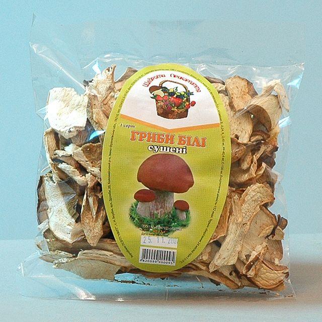 Купить Грибы белые сушеные 1 сорт фасованные по 50 г