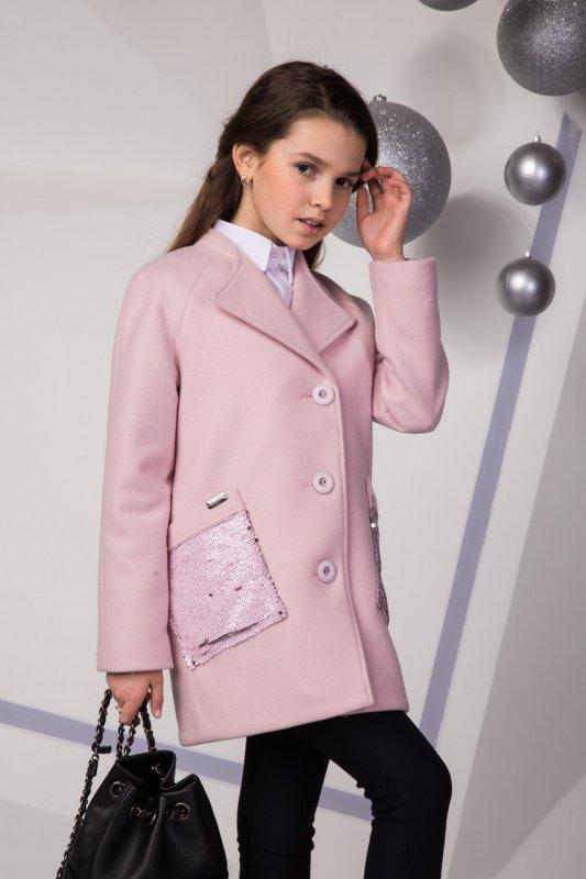062228911ec Нежное детское пальто Лизавета с паетками для девочки подростка Suzie пудра  перламутр р.140-158. В наличии