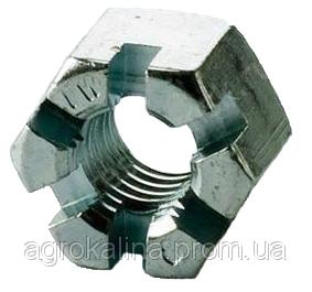 Гайка М20х1,5 (корончата)
