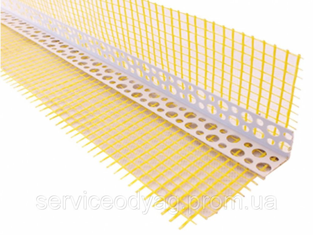 Buy Corner Pvc Perforated with a grid, 14 cm., Dl. 3 m TM Budfix