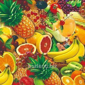 Клеенка настольная прозрачная силикон ПВХ 1.37х30м Тропические фрукты НТМ