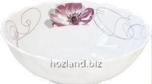 """Салатник стеклокерамическая 152мм Purple Flower """"Lorentso"""""""