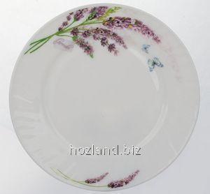 """Тарелка стеклокерамическая 200мм мелкая Lavender """"Lorentso"""""""