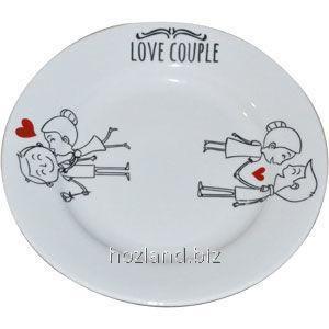 Тарелка фарфор 175мм мелкая Любовь-морковь Дружковка