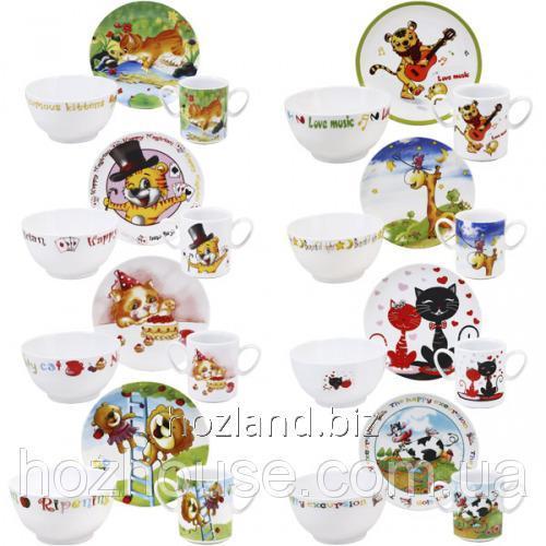 """Buy Children's dinner set porcelain 3pr. """"Mix"""""""