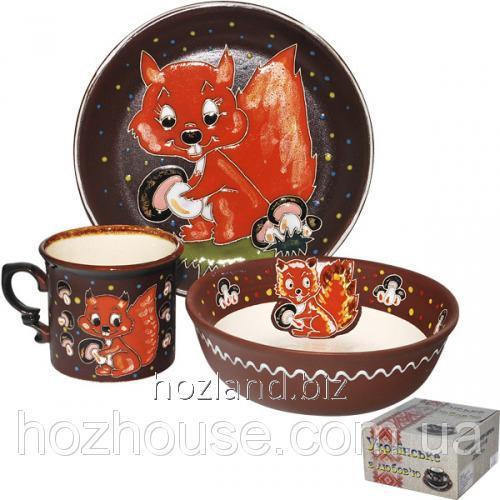 """Buy Children's Cookware Set 3pr. """"Squirrel"""""""