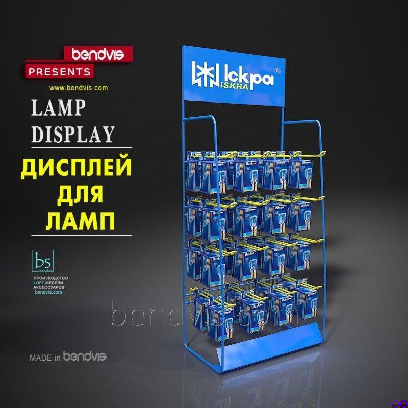 Рекламный дисплей для лампочек искра