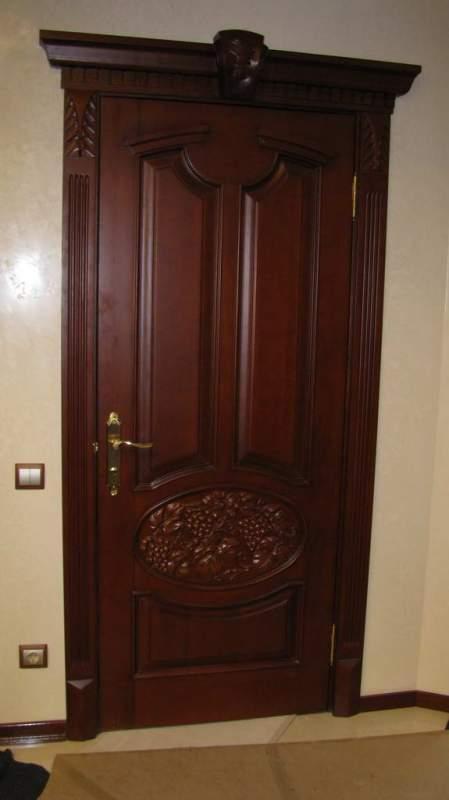 Деревянная дверь под лак Арт. Л13